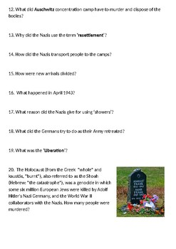 The World at War Episode 20 – Genocide (1941-45) Student Question Guide