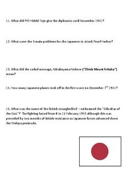 The World at War Episode 6  – Banzai!  Japan (1931–1942) Student Guide