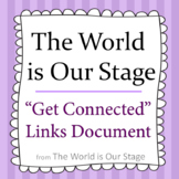 The World is Our Stage Get Connected Printable Document Freebie