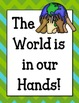 Earth Day Bulletin Board Set & Writing Assignment. The World is in Our Hands
