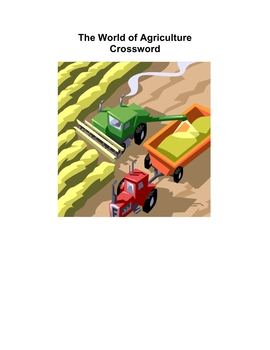 The World of Agriculture - Crossword