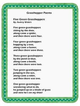 The World of Grasshoppers!A Thematic Unit