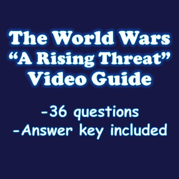 The World of Wars A Rising Threat