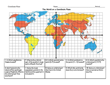 The World on a Coordinate Plane