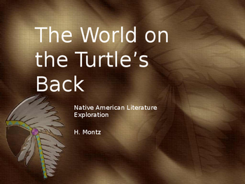 The World on the Turtle's Back Double Entry Journal activitiy