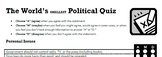 The World's Smallest Political Quiz
