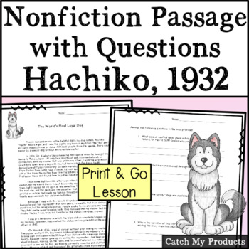 Nonfiction Passage : Story With Questions - The World's Most Loyal Dog