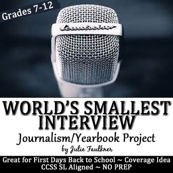 Yearbook Project, World's Smallest Interview, Interactive Notebook Insert