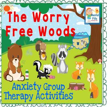 Cut and Paste Activities in The Worry Free Woods for Anxie