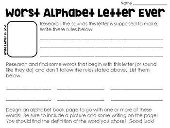The Worst Alphabet Book Ever - Mentor Text Pack for Intermediate Students