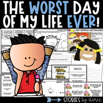 The Worst Day of My Life Ever! (Book Activities and Kid Writing Craft)