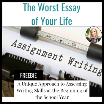 The Worst Essay of Your Life: A Diagnostic Essay FREEBIE