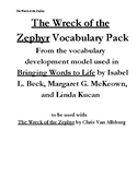 The Wreck of the Zephyr Vocabulary Pack