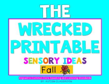 The Wrecked Printable! Sensory Printables for FALL