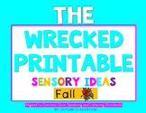 The Wrecked Printable! Sensory Lessons for FALL (Speaking