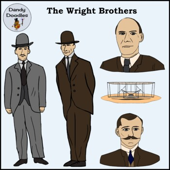 The Wright Brothers: Aviation Pioneers Clip Art by Dandy Doodles