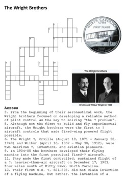 The Wright Brothers Crossword
