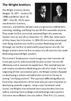 The Wright Brothers Handout