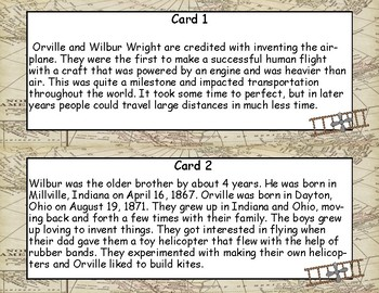 The Wright Brothers- Read and Write The Room- Grades 3-6