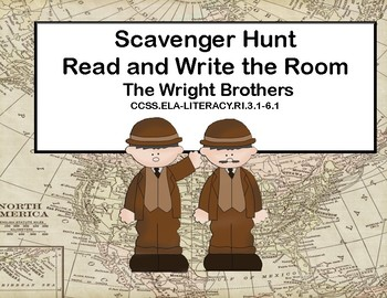 Reading-The Wright Brothers- Read and Write The Room- Grades 3-6