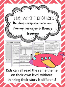 The Wright Brothers fluency and comprehension leveled passage