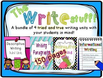 The Write Stuff!  Bundle 4-Pack of Writing Units