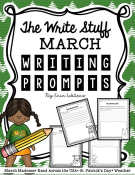 The Write Stuff: March Writing Prompts