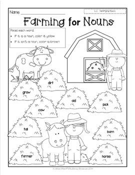 NOUNS {The Write Stuff for Beginning Writers}