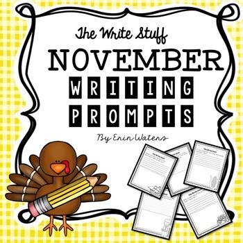 The Write Stuff: November Writing Prompts