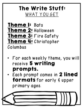 The Write Stuff: October Writing Prompts