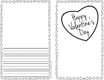 The Write Stuff:  Writing Papers for Valentine's Day