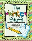 The Write Stuff- Year Long Writing Portfolio CCSS W1, W2, and W3