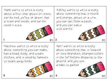 """The """"Write"""" Words - Fall Vocabulary and Inferencing Freebie"""