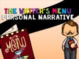 The Writer's Menu Personal Narrative