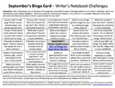The Writer's Notebook Bundle: Bingo Cards, SWT Slides, and Menus