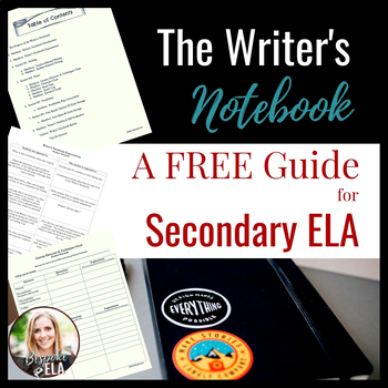 The Writer's Notebook as an Interactive Notebook-- A FREE Guide for Success