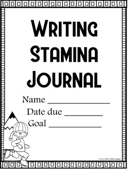The Writer's Workshop: Writing Stamina Journal for Students