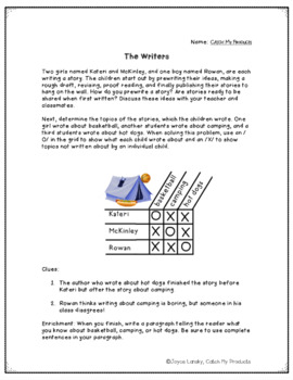 Logic Puzzle About Writing : The Writers