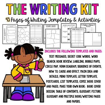 The Writing Kit 43 Pages Of Writing Templates Activities By Cindy