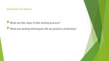 The Writing Procedure Part B