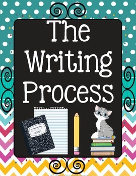 The Writing Process Posters {Chalkboard Chevron Polka Dot}