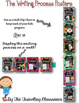 The Writing Process {Chalkboard Super Hero}