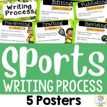 Sports Theme: Writing Process Posters