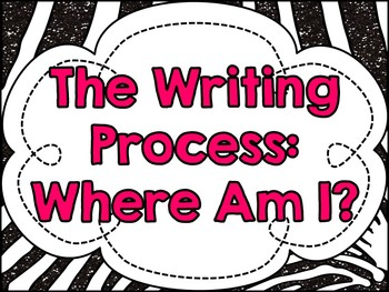 The Writing Process: A Clipchart for Student Tracking {Glitter Zebra}