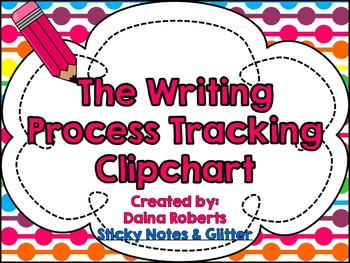 The Writing Process: A Clipchart for Student Tracking {Rainbow}