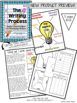 The Writing Process: Anchor Charts and More for Developing Writers