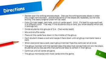 The Writing Process Battle Game