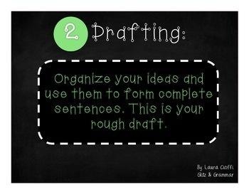 The Writing Process (Chalkboard Theme)