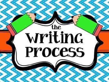 The Writing Process Chart {FREEBIE}