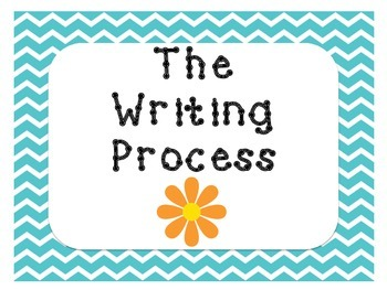 The Writing Process Chevron and Flowers